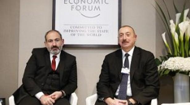 Pashinyan meets with Aliyev in Davos