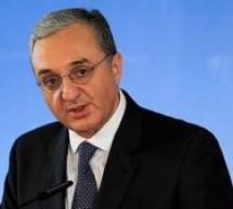 Ermenistan Dışişleri Bakanı Mnatsakanyan: Türkiye ile ilişkilerin ön koşul olmadan normalleşmesine hazırız